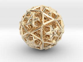Hedron star Family Version 2 in 14k Gold Plated Brass