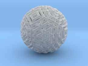 Cube to octahedron transition Version 1 in Smooth Fine Detail Plastic