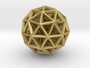 Geometric sphere with connected vertics in Natural Brass