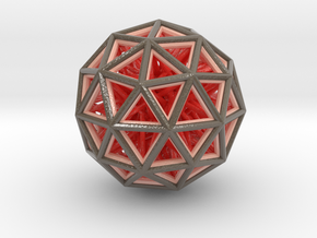 Geometric sphere with connected vertics in Glossy Full Color Sandstone