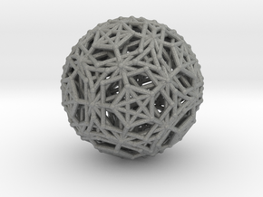 Dodeca & Icosa hedron families forming a sphere in Gray Professional Plastic