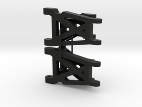 047002-01 Hotshot Rear Suspension Set in Black Natural Versatile Plastic