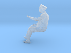 Seated Motorman Operator Figure for HO and O scale in Smooth Fine Detail Plastic: 1:48 - O