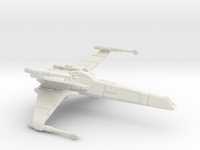 1/72 T-85 X-wing in White Natural Versatile Plastic