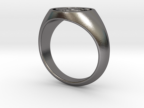 Anello INTER in Polished Nickel Steel