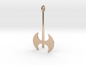 Labrys Pendant in 14k Rose Gold Plated Brass