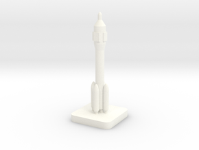 Mini Space Program, Long March 2F rocket in White Processed Versatile Plastic