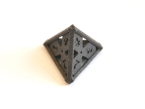 D4 Balanced - Skull and Bones in Matte Black Steel