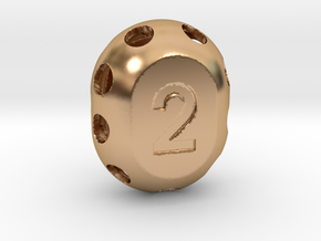 Two-sided 'pepperpot' die in Polished Bronze