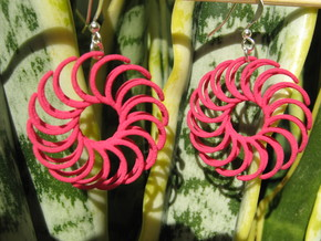 Sun 2 Earrings in Pink Strong & Flexible Polished