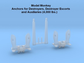 1/192 Anchors for Destroyers and Auxiliaries in Smoothest Fine Detail Plastic