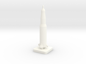 Mini Space Program, Saturn 5 rocket in White Processed Versatile Plastic