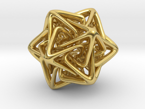 Crystal Star in Polished Brass