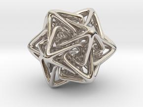 Crystal Star in Rhodium Plated Brass