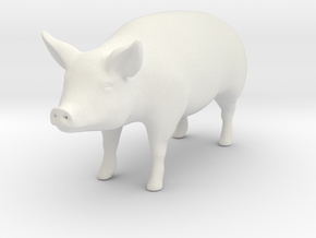 Pig in White Natural Versatile Plastic