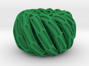 Solid Twisted double torus in Green Processed Versatile Plastic