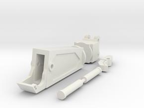 1:50 Cat 308C Third Member Shear  in White Natural Versatile Plastic