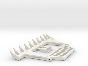 1:50 Scale 10ft pin on  rake with guard in White Natural Versatile Plastic