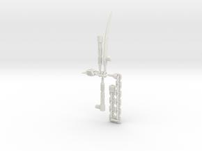 POTP Dinobot Slash Weapon accessories in White Premium Versatile Plastic