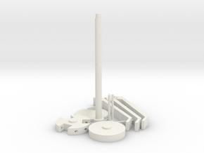 TK Grappling Hook Set in White Natural Versatile Plastic