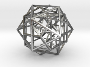 Nested Platonic Solids in Natural Silver