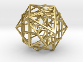 Nested Platonic Solids in Natural Brass