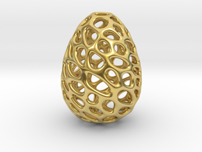 Dino Dragon Egg in Polished Brass