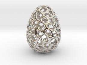 Dino Dragon Egg in Rhodium Plated Brass
