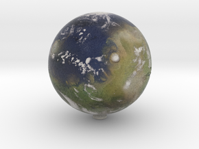 "Terraformed Mars /12"" Earth globe addon in Natural Full Color Sandstone"