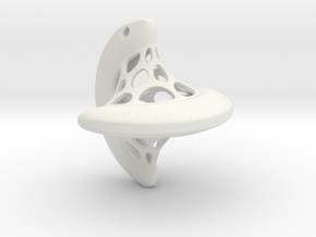 Sphericon pendant in White Natural Versatile Plastic