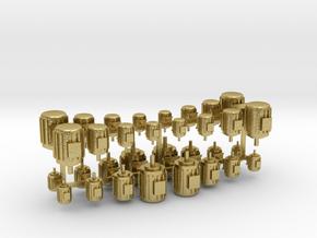 Elektromotoren Größe A-D 32er Set 1:120 in Natural Brass