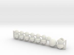 Segmented Tentacle Arm for ModiBot  in White Natural Versatile Plastic
