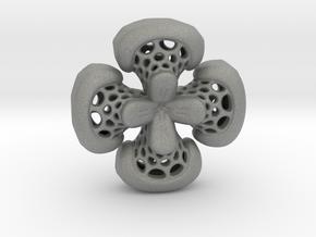 Sphericon Flower pendant in Gray Professional Plastic
