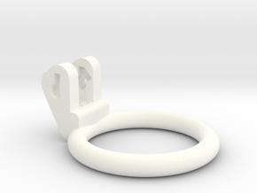 New Fun Cage - Ring - 45mm - Circular in White Processed Versatile Plastic