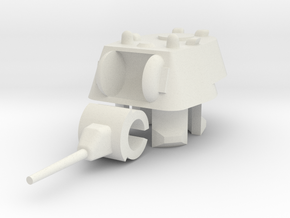 1/100 KV-1 Turret (1939) in White Natural Versatile Plastic