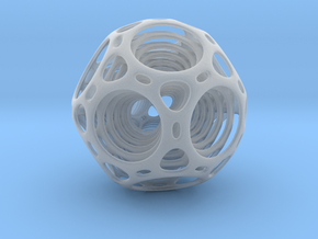 Nested dodecahedron in Smooth Fine Detail Plastic