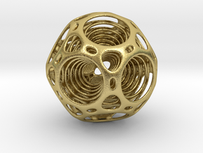 Nested dodecahedron in Natural Brass