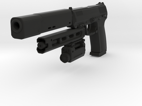 Psycho Pistol in Black Natural Versatile Plastic
