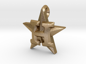Astros Star charm in Polished Gold Steel