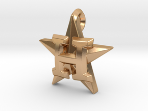 Astros Star charm in Polished Bronze