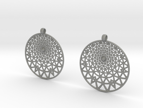 Grid Reluctant Earrings in Gray PA12
