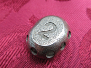 Two-sided 'pepperpot' die in Polished Bronzed-Silver Steel