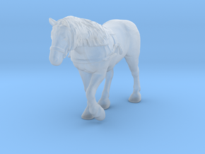 Draft Horse w/Harness in Smoothest Fine Detail Plastic: 1:160 - N