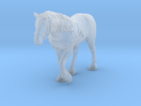 Farm Horse w/Harness in Smooth Fine Detail Plastic: 1:48 - O