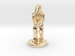 Battle Droid 20mm tall in 14K Yellow Gold