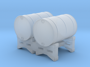 2-55 gallon Drums Stackable in Smooth Fine Detail Plastic