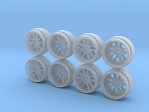 Work CR 3P 9 Hot Wheels Rims in Smoothest Fine Detail Plastic