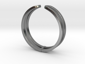 Loop Ring in Polished Silver: Small