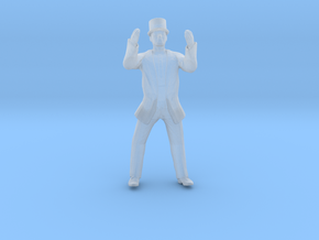 Man Standing Hands In Air: Suit and Top Hat in Smoothest Fine Detail Plastic: 1:64 - S