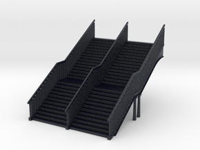 N Gauge Station Stairs in Black Professional Plastic